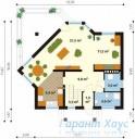 78-proekt.ru - Проект Одноквартирного Дома №275.  План Первого Этажа