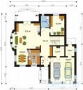 78-proekt.ru - Проект Одноквартирного Дома №214.  План Первого Этажа