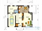 78-proekt.ru - Проект Одноквартирного Дома №68.  План Первого Этажа