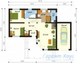 78-proekt.ru - Проект Одноквартирного Дома №331.  План Первого Этажа