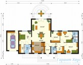 78-proekt.ru - Проект Одноквартирного Дома №247.  План Первого Этажа