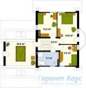 78-proekt.ru - Проект Одноквартирного Дома №309.  План Второго Этажа
